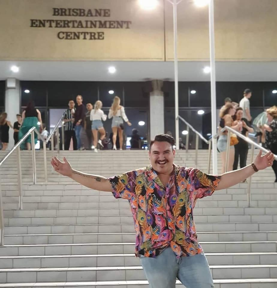 "Here is one ecstatic James at ""his boy"" Khalid's concert last night!"