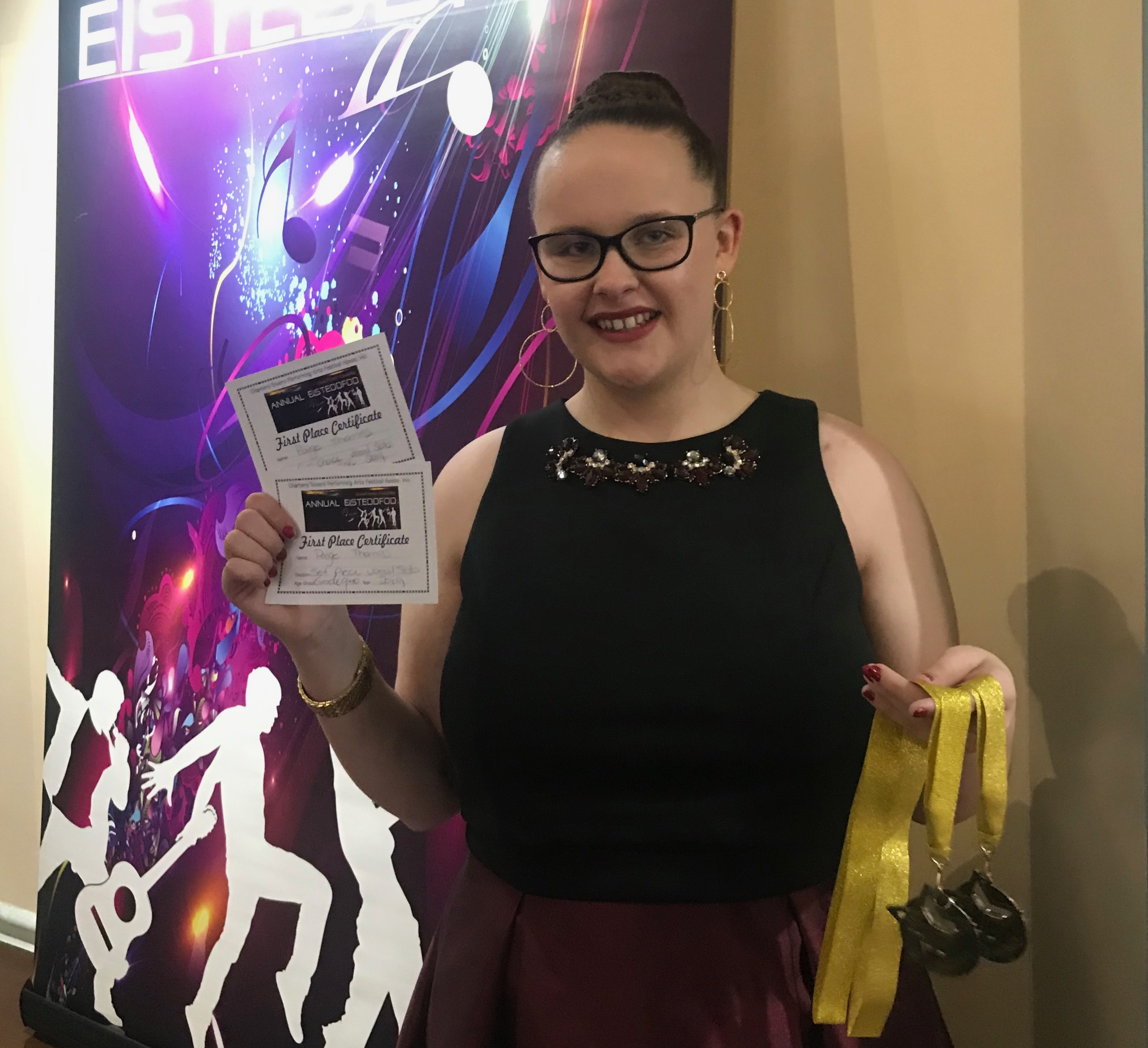 Student Paige Thomas performed at the 2019 EKKA, and ranked 1st place in Eisteddfod!