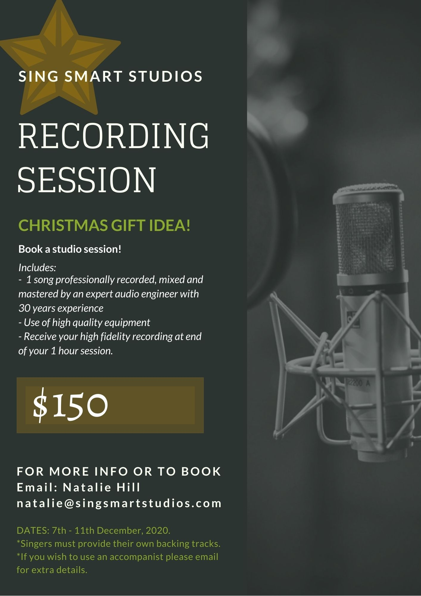 RECORDING SESSIONS NOW AVAILABLE!